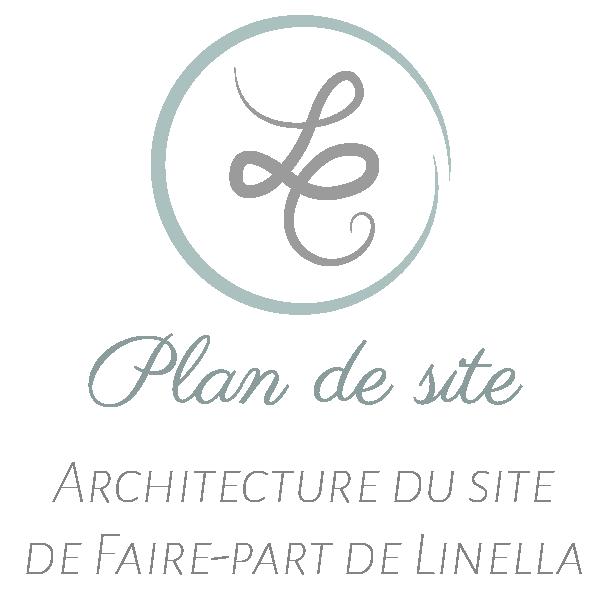 Plan de site - modèle faire-part - papeterie décorative - linella créations
