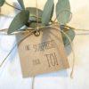 une surprise pour toi en kraft et papier blanc recyclé cadeaux