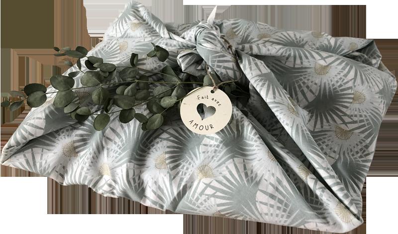 furoshiki - étiquette cadeau