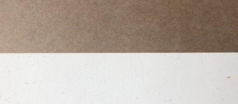 Papier kraft et papier blanc recyclé