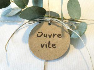 Etiquette Ouvre vite cadeaux