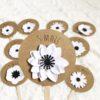 Cartes étapes fleurs blanches
