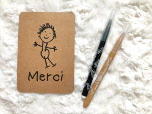 Carte Bonhomme d'enfant - merci